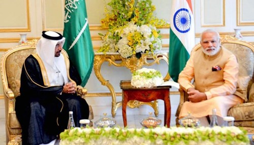 Khalid Al-Falih Meets with Indian PM