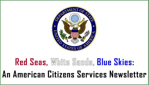 American Citizens Services Newsletter for April - June 2016