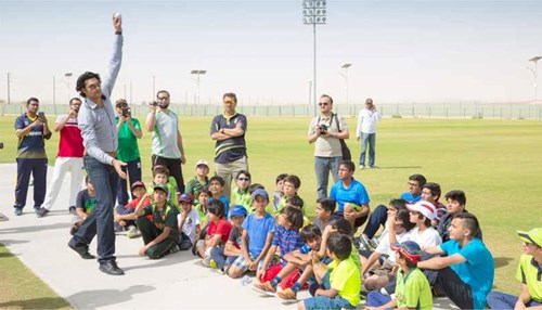 International Cricket Stars Visit Dhahran