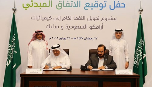 Saudi Aramco and SABIC Sign HoA on Feasibility Study for Oil-to-Chemicals Complex