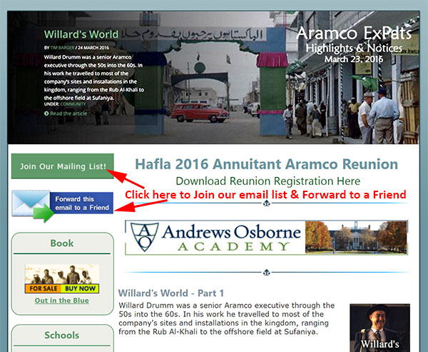 Join the Aramco ExPats Newsletter Bandwagon
