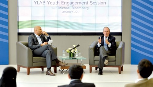 Michael Bloomberg in Discussion ‬with Aramco's Young Professionals