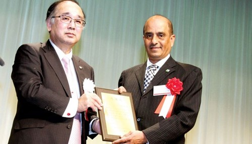 Company Honored for Disaster Relief Support in Japan