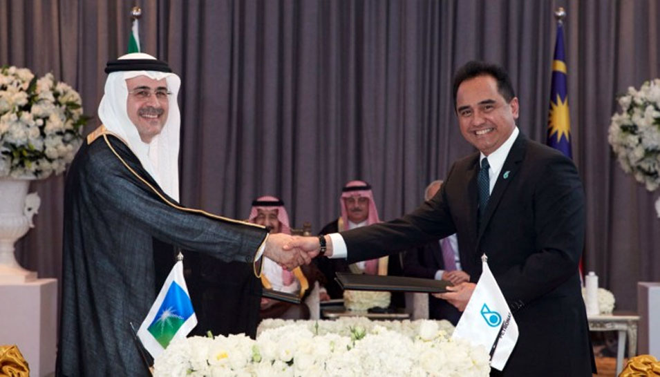 Saudi Aramco, PETRONAS Sign SPA for Equity Participation in Malaysia's RAPID Downstream Project