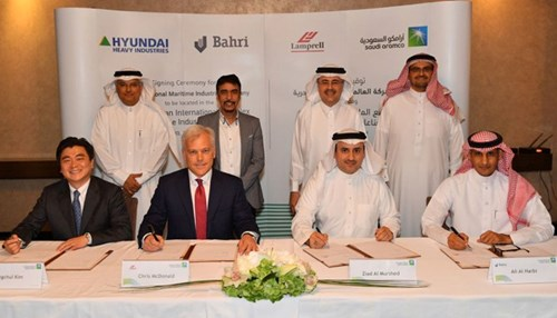Saudi Aramco Signs Landmark Joint Venture Agreement with Lamprell, Bahri, and Hyundai