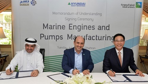 Saudi Aramco, Dussur, and Hyundai Heavy Industries Sign MOU