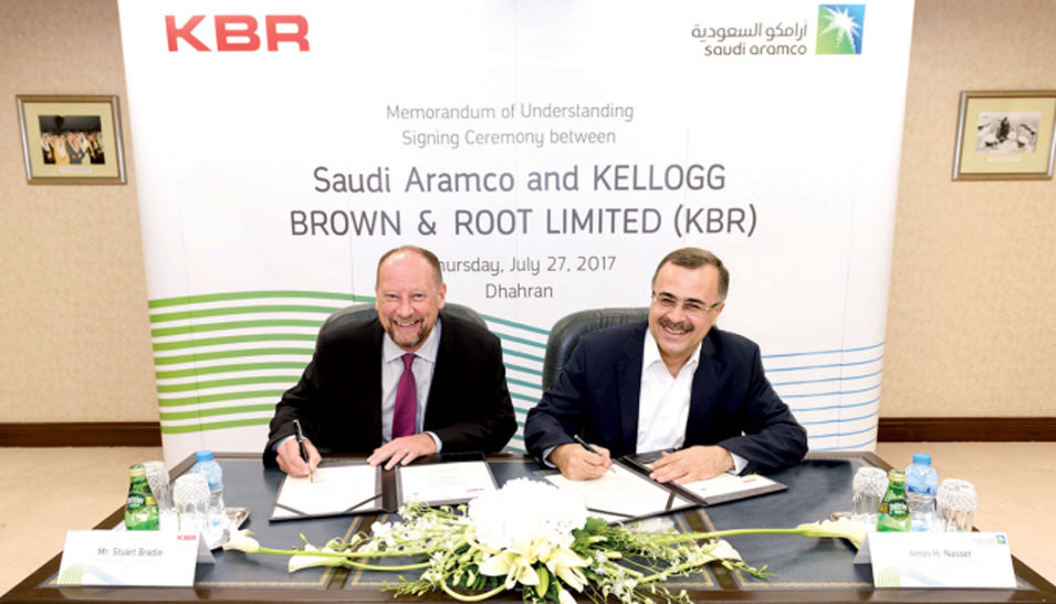 MoU Signed with KBR to Strengthen Company's in-Kingdom Procurement of Services