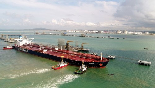 Malaysia Mega-refinery Project Receives First Crude Oil Cargo