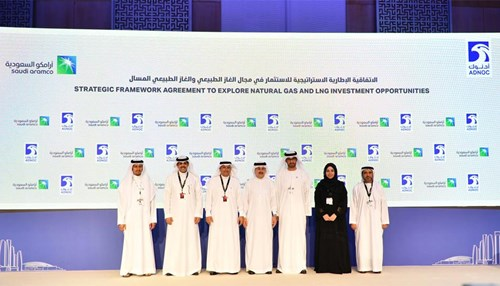 Saudi Aramco and ADNOC Sign Framework Agreement on Strategic Natural Gas and LNG Cooperation