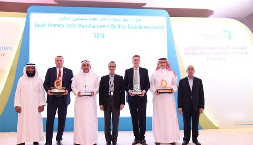 Saudi Aramco Honors Top Local Vendors at 2018 Quality Forum