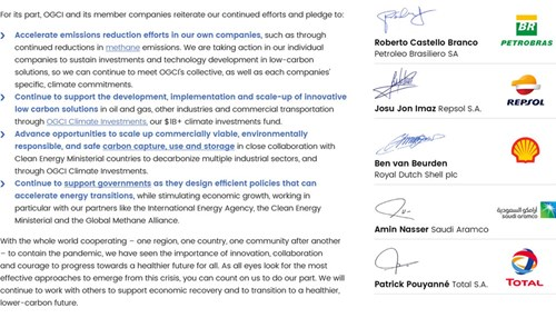 Open letter from the CEOs of the Oil and Gas Climate Initiative