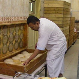 Making Arab Bread in Dammam