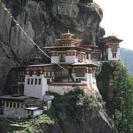 Bhutan in the Himalayan Mountains